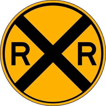 Traffic Sign, 12 x 12In, BK/YEL, RXR