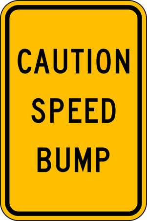Traffic Sign, 18 x 12In, BK/YEL, DMD GR AL