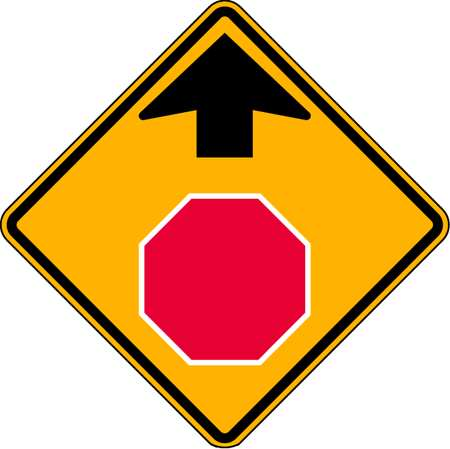 Traffic Sign, 30 x 30In, R,  BW/FLUOR YEL
