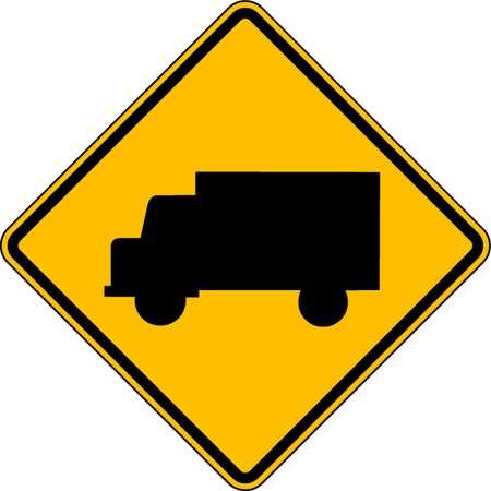 Traffic Sign, 30 x 30In, BK/YEL, SYM, W11-10
