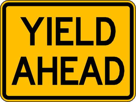Traffic Sign, 18 x 24In, BK/YEL, DMD GR AL