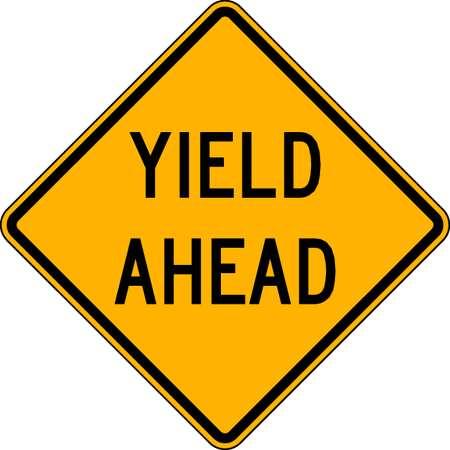 Traffic Sign, 24 x 24In, BK/YEL, DMD GR AL