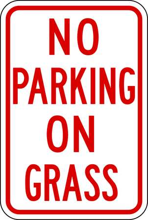 Parking Sign, 18 x 12In, R/WHT, Text