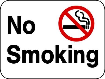 No Smoking Sign, Reflective, 18x24