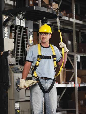 Full Body Harness, XL, Yellow