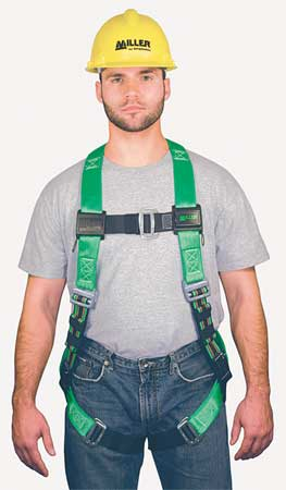 Full Body Harness, S/M, 400 lb., Green