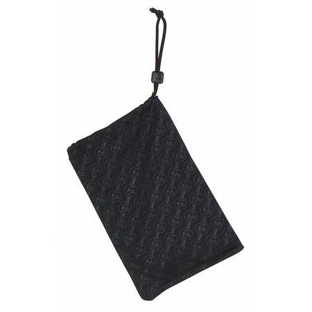 Eyewear Bag, Bk, Microfiber, Lock Stop