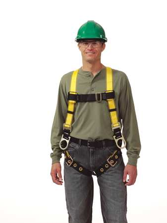 Full Body Harness, XL, Yellow