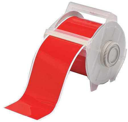 Tape, Red, 100 ft. L, 4 In. W