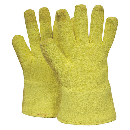Heat Resist. Gloves, Yellow, Univ., PR