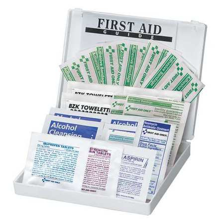 First Aid Kit, Bulk, White, 28 Pcs