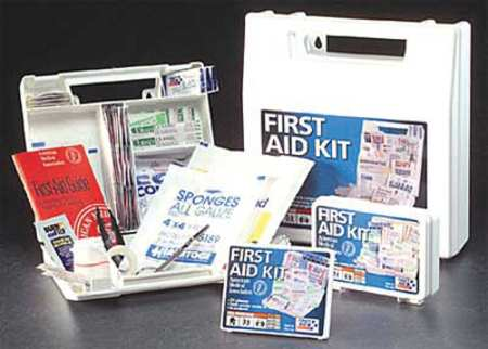 First Aid Kit, Bulk, White, 52 Pcs