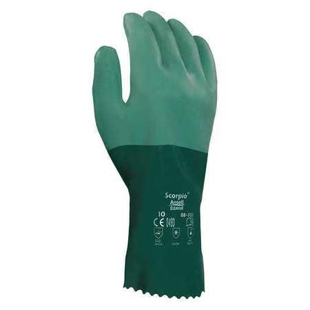 """Chemical Resistant Glove, 12"""" L, Sz 10, PR"""