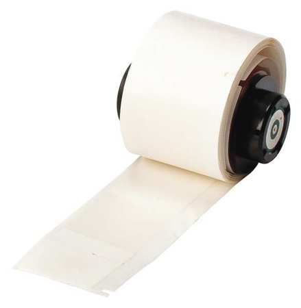 "1.000"" x 3-3/8"" White/Translucent Adhesive Label,  Vinyl"