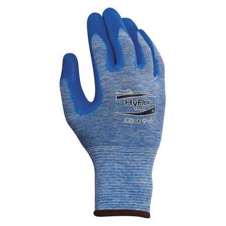 Coated Gloves, XL, Knit Wrist, Blue, PR