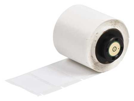 "1.500"" x 3/4"" White Adhesive Label,  Polyester"