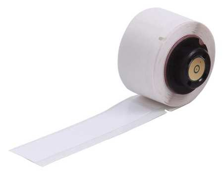 "0.750"" x 4"" White Adhesive Label,  Polyester"
