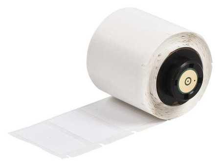 "0.750"" x 1-1/2"" White Adhesive Label,  Nylon Cloth"