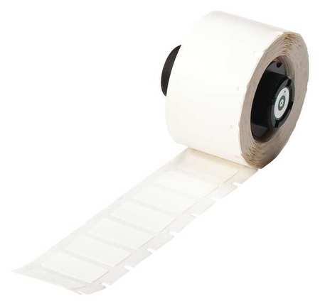 "0.900"" x 1/2"" White Adhesive Label,  Nylon Cloth"