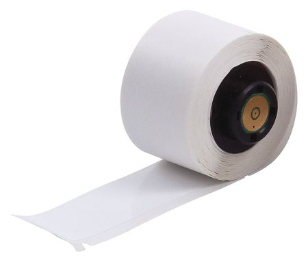"3.000"" x 1"" White Adhesive Label,  Polyester"