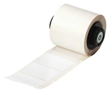 "1.500"" x 1"" White Adhesive Label,  Polyester"
