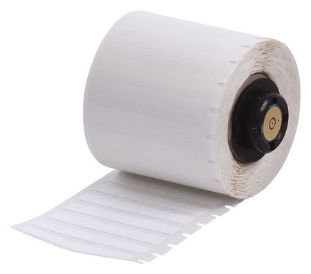 "1.900"" x 1/4"" White Adhesive Label,  Nylon Cloth"
