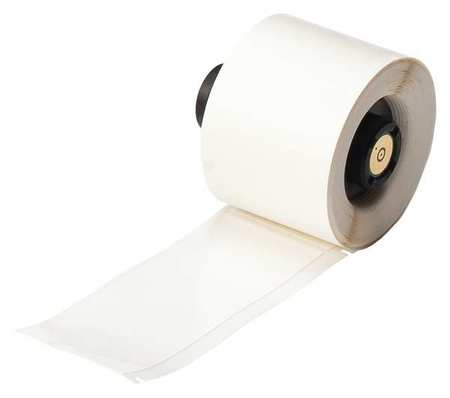 "1.500"" x 4"" White Adhesive Label,  Vinyl Cloth"