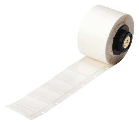 "0.750"" x 1"" White Adhesive Label,  Vinyl Cloth"