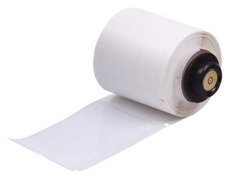 "3.000"" x 1-29/32"" White Adhesive Label,  Polyester"