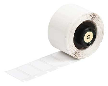 "0.500"" x 13/64"" White Adhesive Label,  Polyester"