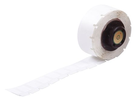 "0.500"" x 3/8"" White Adhesive Label,  Polyester"