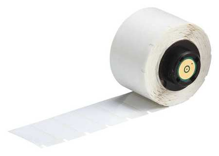 "1.000"" x 1/2"" White Adhesive Label,  Polyester"