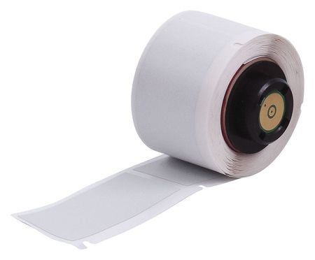 "2.000"" x 1"" Silver Adhesive Label,  Polyester"