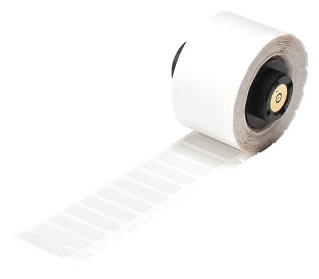 "1.000"" x 9/32"" Silver Adhesive Label,  Polyester"