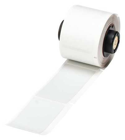 """1.250"""" x 2-3/4"""" Silver Adhesive Label,  Polyester"""