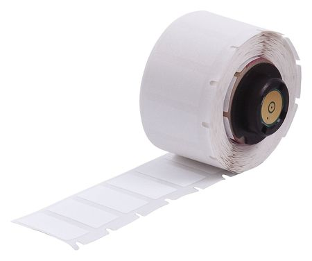 "1"" x 1/2"" White Adhesive Label,  Polyester"