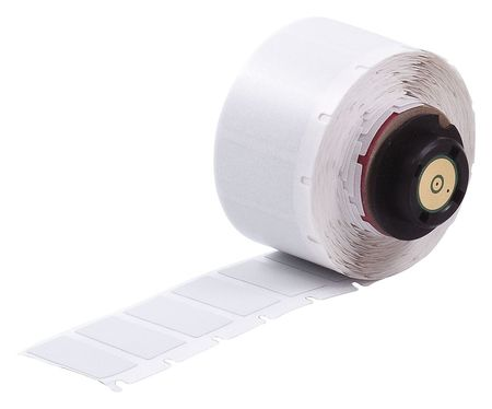 "1"" x 1/2"" Silver Adhesive Label,  Polyester"