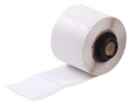 "1-1/2"" x 1-1/2"" White Adhesive Label,  Polyester"