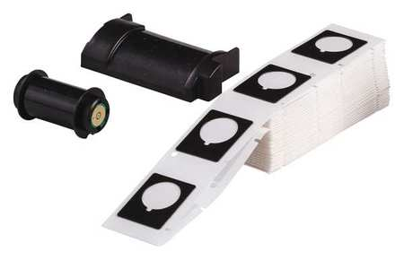 "1.200"" x 1-1/2"" Black Adhesive Raised Panel Label,  Polyester"