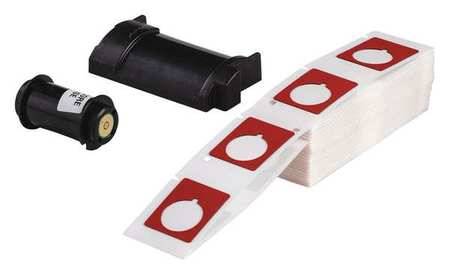 "1.200"" x 1-1/2"" Red Adhesive Raised Panel Label,  Polyester"
