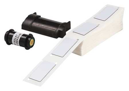 "2.000"" x 1"" White Adhesive Raised Panel Label,  Polyester"