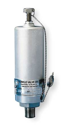 Safety Relief Valve, 1/4 In, 5500 psi, Alum