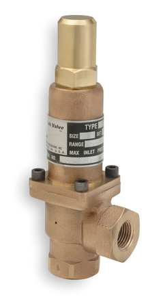 Pressure Relief Valve, 1/2In, 50psi, Bronze