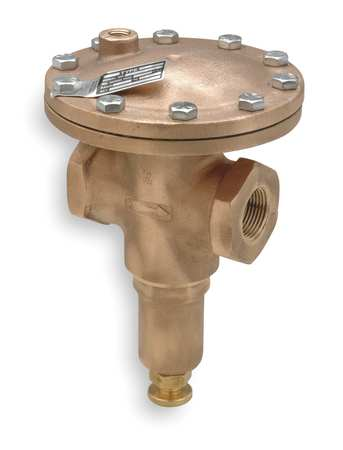 Vacuum Regulator, 1/2 In, 2 to 30 in. Hg