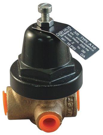 Pressure Regulator, 3/8 In, 2 to 30 psi