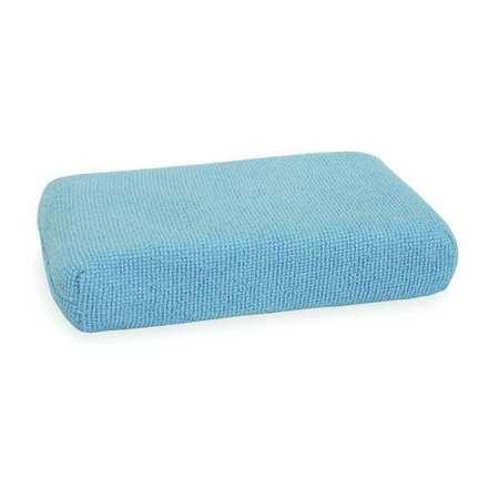 "Sponge, 5""L, 3""W, Microfiber, Blue, PK2"