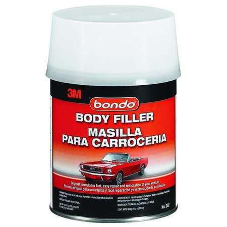 Body Filler W Hardener, Paste, 1 Qt, Gray