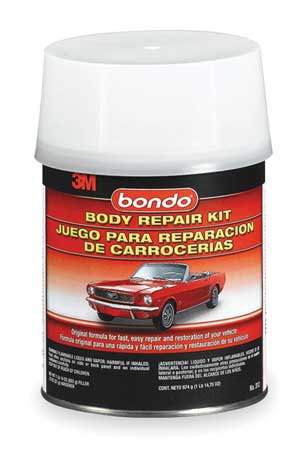 Auto Body Filler Kit, Paste, 1 Qt, Gray