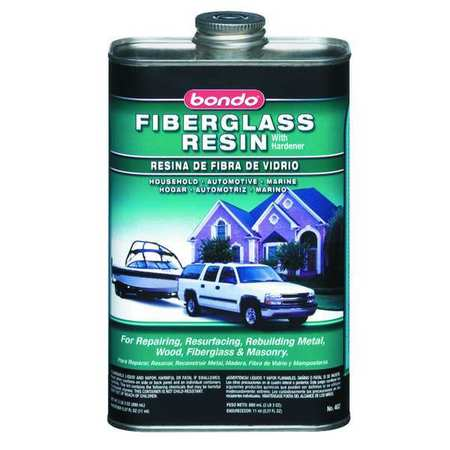 Fiberglass Resin, Liquid, 1 Qt, Light Straw
