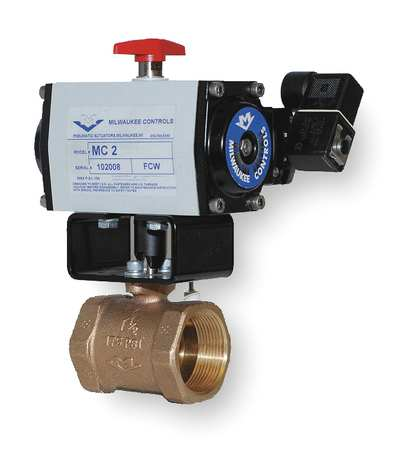 Butterfly Valve, Dbl Acting, 1-1/4 In.